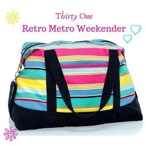 Thirty One Retry Metro Weekender Travel Tote NWT